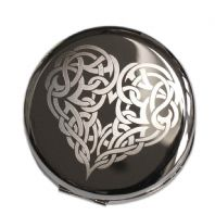 Personalised Celtic Heart Compact Mirror
